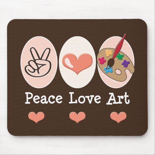 Artista Mousepad del arte del amor de la paz Tapete De Ratón