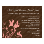 Artista o salón de maquillaje del rosa y del flyer personalizado