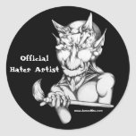 Artista oficial del enemigo etiqueta redonda