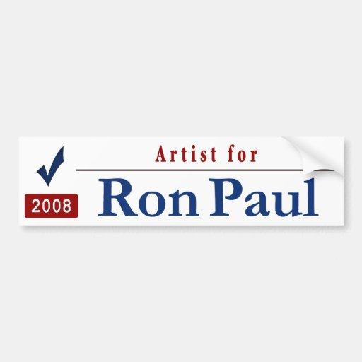 Artista para Ron Paul Pegatina De Parachoque