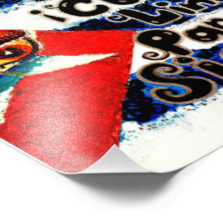 Artista V.Sisk de la bandera de Cubita Linda Para Impresion Fotografica