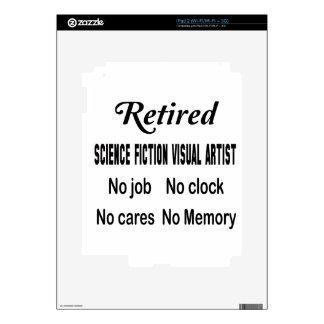 Artista visual jubilado de la ciencia ficción calcomanías para iPad 2