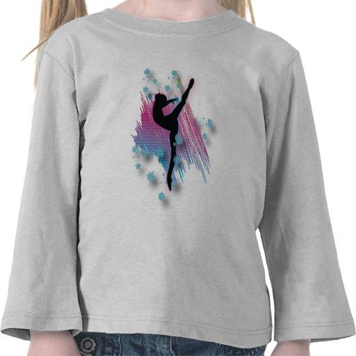 Artista Wmen del baile y ropa de los chicas Camiseta