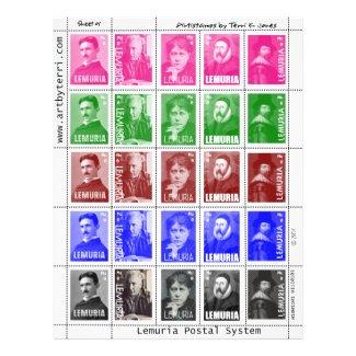 Artistamps Faux Postage Stamps Tesla Blavatsky etc