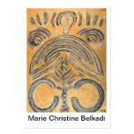 Artistas abstractos de la bella arte única de la t tarjetas de visita