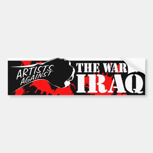 Artistas contra la guerra en Iraq Etiqueta De Parachoque