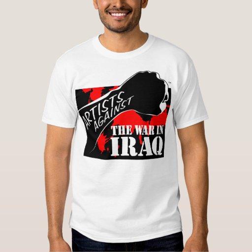 Artistas contra la guerra en Iraq Playeras