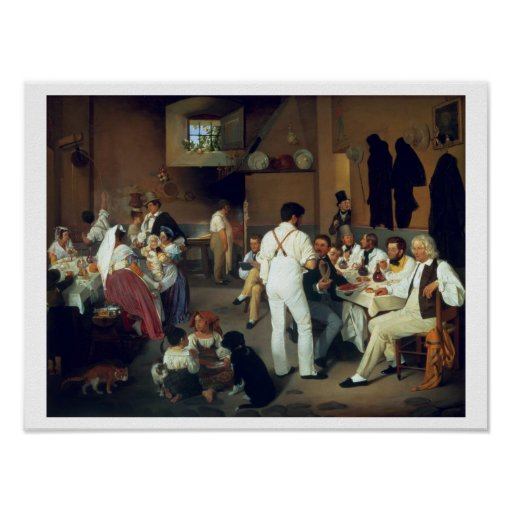 Artistas daneses en el la Gonsola, Roma, 18 de Ost Póster