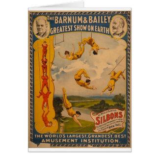 Artistas de trapecio Barnum y Bailey 1896 Tarjeta De Felicitación