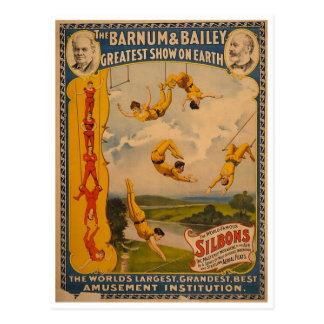 Artistas de trapecio Barnum y Bailey 1896 Tarjetas Postales
