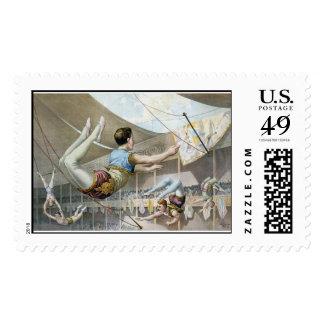 Artistas de trapecio estampillas