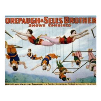 Artistas de trapecio/hermanos de Forepaugh y de Postales