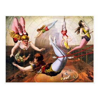 Artistas de trapecio postales