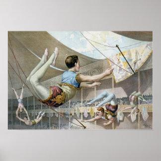 Artistas de trapecio póster