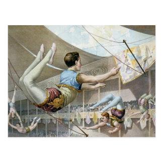 Artistas de trapecio tarjetas postales