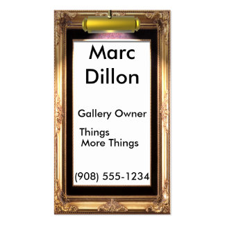 Artistas del marco de galería tarjeta de visita