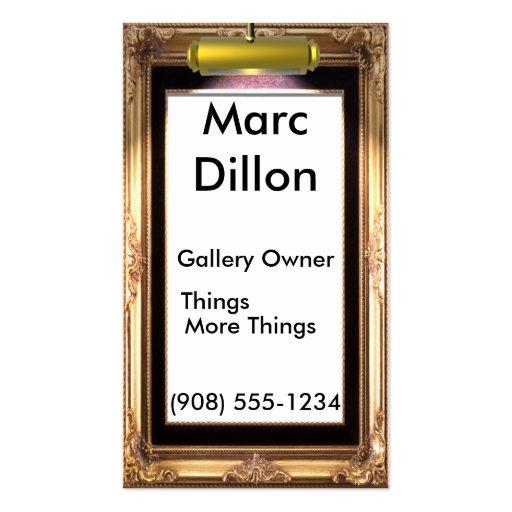 Artistas del marco de galería tarjetas de visita