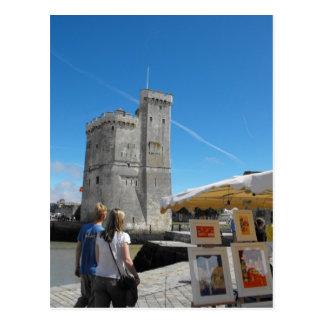 Artistas en La Rochelle, Francia Tarjeta Postal