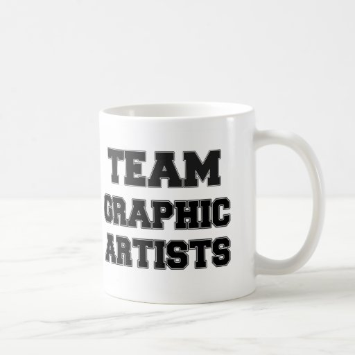 Artistas gráficos del equipo taza básica blanca