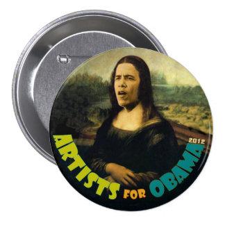 Artistas para Obama: La nueva Mona Lisa Pin Redondo De 3 Pulgadas