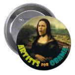Artistas para Obama: La nueva Mona Lisa Pins