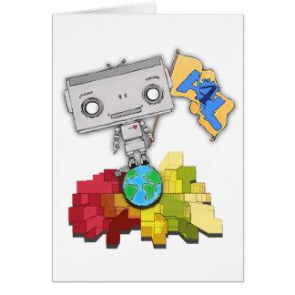 Artistas robot de 4 vidas tarjeta