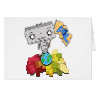 Artistas robot de 4 vidas felicitaciones