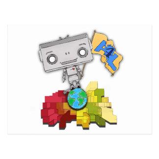 Artistas robot de 4 vidas postales