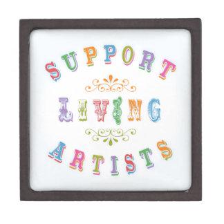 Artistas vivos de la ayuda cajas de recuerdo de calidad