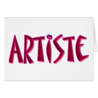 Artiste Note Card