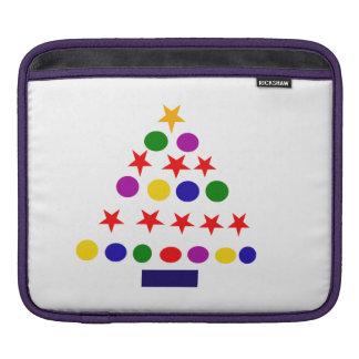 Artistic Abstract Art Christmas Tree iPad Sleeve