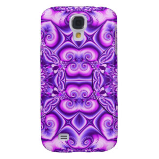 Artistic abstract design with spiral hearts galaxy s4 cover
