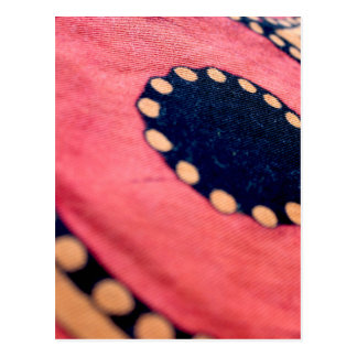Artistic Abstract Fabric Postcard