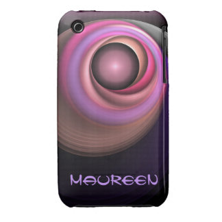 Artistic abstract iPhone 3 case with name