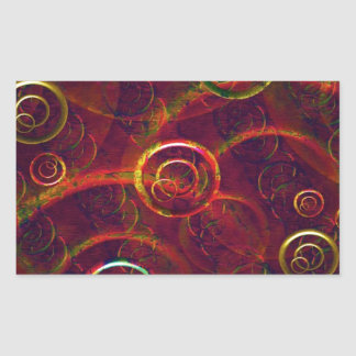 Artistic Abstract Multicolored Rectangle Stickers