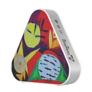 artistic abstract music EDM rave neon Bluetooth Speaker