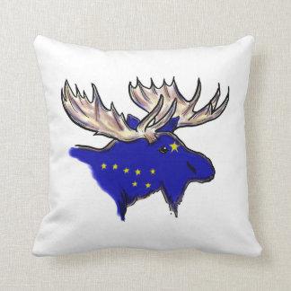 Artistic Alaska state flag elk decorative pillow