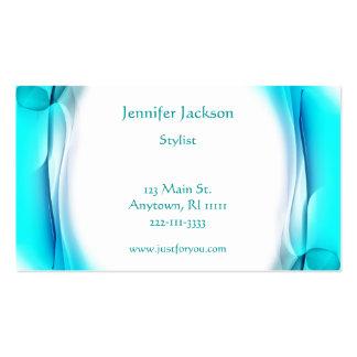 Artistic Aqua Business Cards