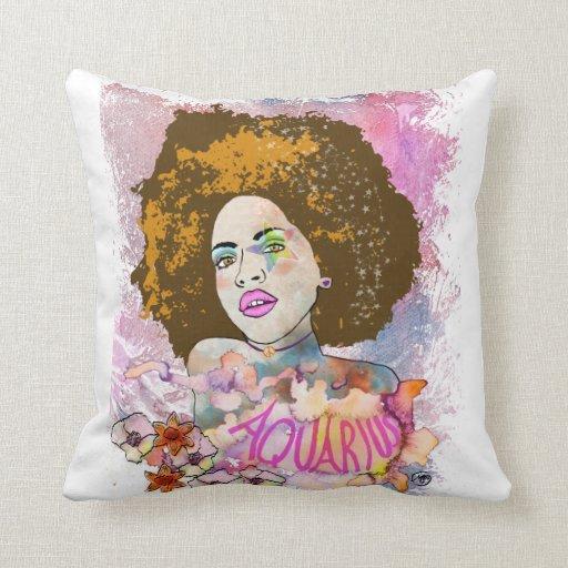 Artistic Aquarius pillow