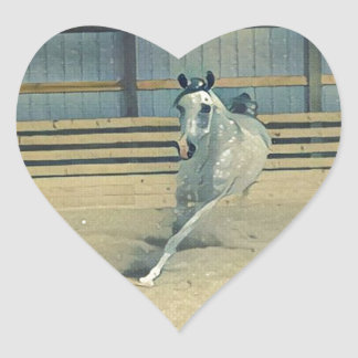 Artistic Arabian Heart Sticker