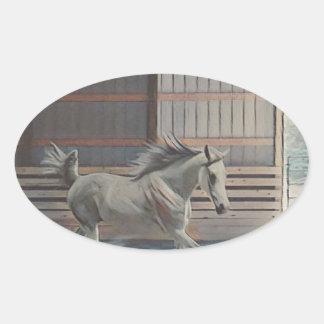 Artistic Arabian Oval Sticker