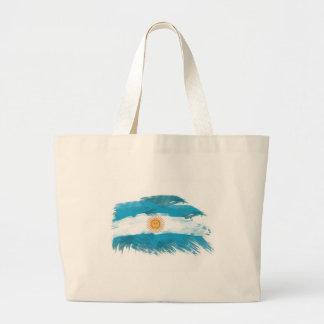 Artistic Argentina Flag - Customizable design Canvas Bags