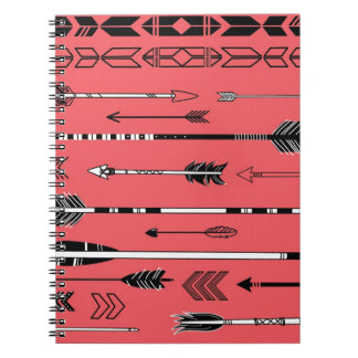 Artistic Arrows Collection Spiral Notebook