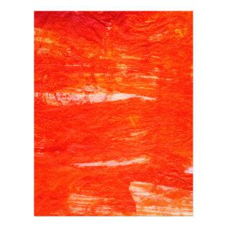 Artistic Artsy  Red Scrapbook Letterhead
