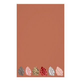 Artistic Autumn Leaves Stationery