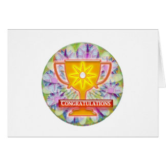 Artistic AWARD : Text CONGRATULATIONS Greeting Card