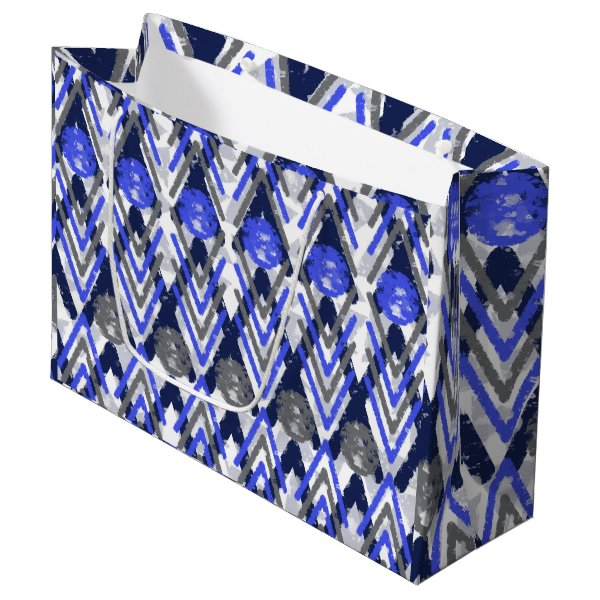 Artistic Aztec Influenced Large Gift Bag