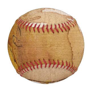 Artistic background watercolor baseball