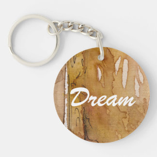 Artistic background watercolor Double-Sided round acrylic keychain