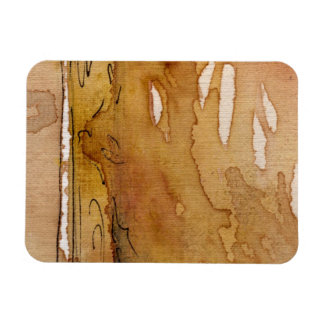 Artistic background watercolor magnet